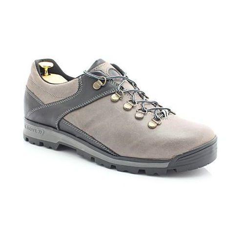 Kent 290 szary-czarny - trekkingowe buty męskie ze skóry - szary ||czarny