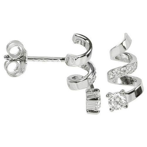 Silver Cat Spiralne kolczyki z cyrkoniami SC205 srebro 925/1000