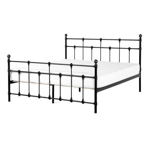 łóżko Czarne 180 X 200 Cm Metalowe Ze Stelażem Lynx Beliani