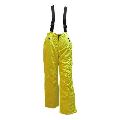 Spodnie narciarskie/snowboard Green-fluo, rozmiar 146-152