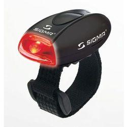 micro - lampa tylna, czarna - czarny marki Sigma