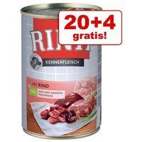 20 + 4 gratis! Rinti Pur, 24 x 400 g - Serca drobiowe, PRIN026_PAK12