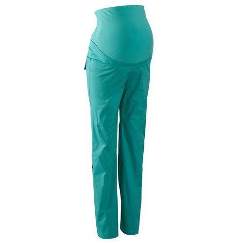 Spodnie ciążowe, proste nogawki z wywinięciem bonprix zielony oceaniczny, kolor zielony