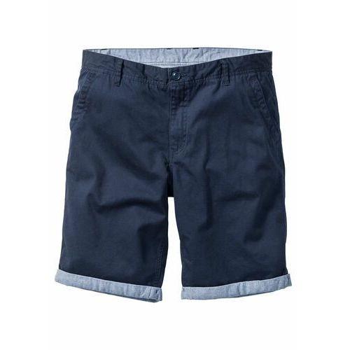 a6a4d164854f Bonprix Bermudy chino z wywiniętymi nogawkami regular fit ciemnoniebieski
