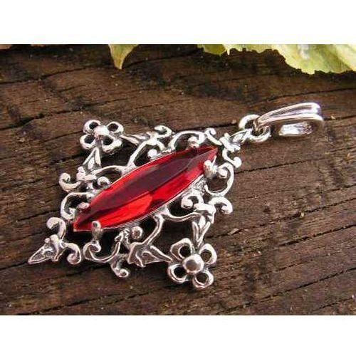 fa9572e2e7a861 MELISSA - srebrny wisiorek z rubinem opinie + recenzje - ceny w ...