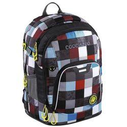 plecak szkolny coocazoo rayday, checkmate blue red marki Coocazoo