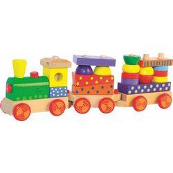 Woody drewniany pociąg