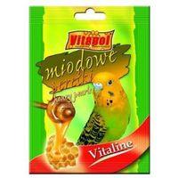 Vitapol vitaline perełki miodowe dla papugi falistej 20g