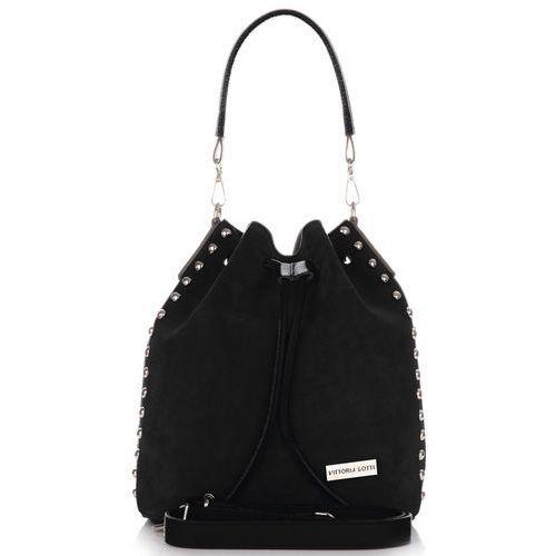 183933b2c4ee8 Modne torebki skórzane made in italy z kosmetyczką czarna (kolory) marki Vittoria  gotti -