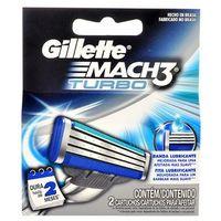 Gillette Mach3 Turbo wkład do maszynki 2 szt dla mężczyzn (4902430527057)