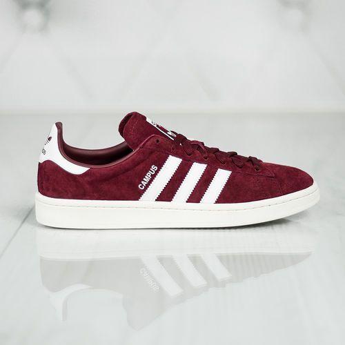 adidas Originals CAMPUS Tenisówki i Trampki collegiate burgundy/footwear white/chalk white (4058025713548)