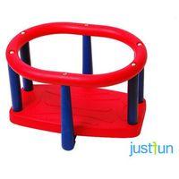 Huśtawka kubełkowa lux - czerwono-niebieski marki Just fun
