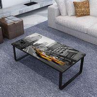 nowoczesny stolik do kawy, prostokątny z nadrukiem marki Vidaxl