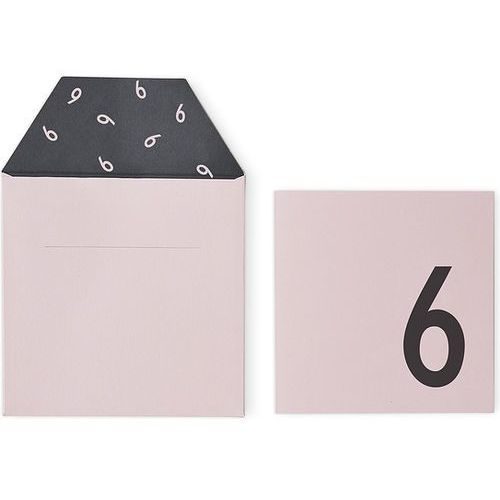 Kartka urodzinowa dla dzieci Design Letters różowa 6 lat
