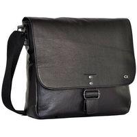 Skórzana torba na ramię unisex daag shaker 5 czarna