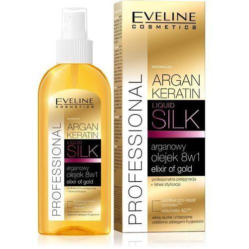 Eveline argan & keratin liquid silk olejek do włosów 8w1 150ml - eveline od 24,99zł darmowa dostawa kiosk ruchu