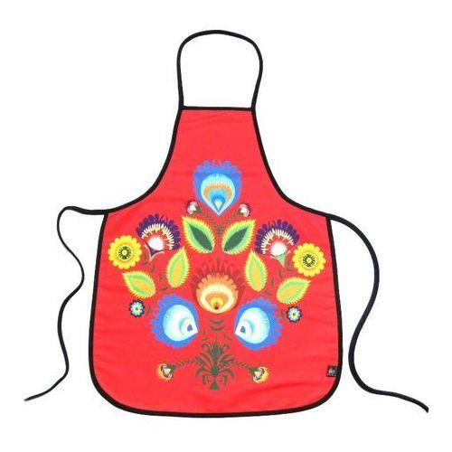 Fartuszek kuchenny z nadrukiem ludowym  kwiaty łowickie 6 marki Pracownia artystyczna
