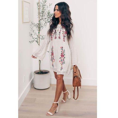 Sukienka PARINA, kolor beżowy