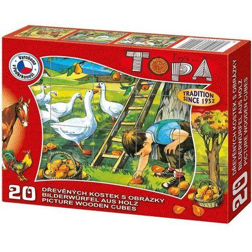 zwierzęta w drewnie - gęsi 20szt marki Topa