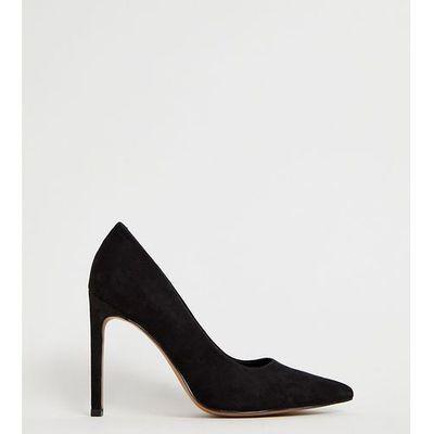 b8efe38a90f ASOS DESIGN Porto pointed high heeled court shoes in black - Black ASOS