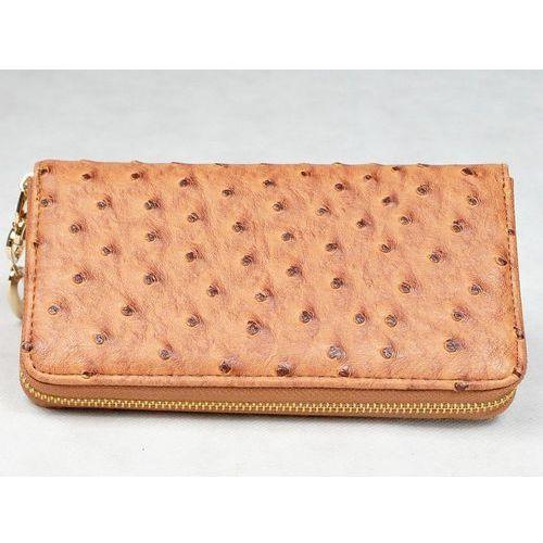 Ekskluzywny pojemny portfel damski prezent brązowy - brązowy Yuhe