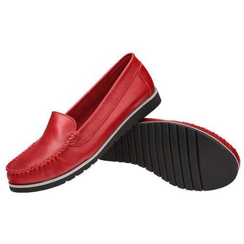 d8814ed07a4cb Mokasyny 10050 czerwone damskie wsuwane (LEMAR) opinie + recenzje ...
