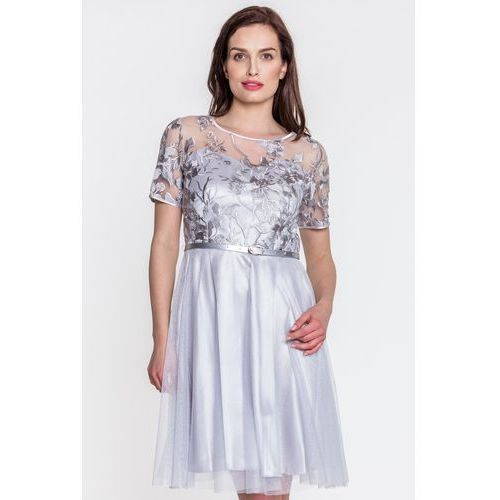 0e0dbf0803 Koronkowa sukienka z tiulem - POZA