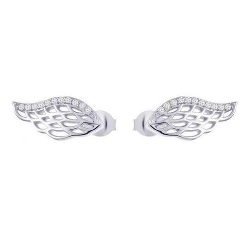 Preciosa Srebrne kolczyki z cyrkoniami Angel Wings 00 5218 srebro 925/1000