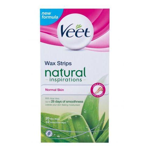 Veet natural inspirations wax strips normal skin akcesoria do depilacji 20 szt dla kobiet - Najlepsza oferta