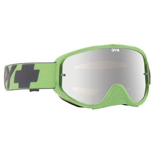 Spy Gogle narciarskie woot race masked green - smoke w/ silver mirror (+clear anti fog w/ pos