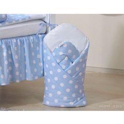 MAMO-TATO Rożek niemowlęcy Grochy niebieskie