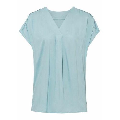 Shirt z rękawami 3/4 bonprix żółty narcyz, wiskoza