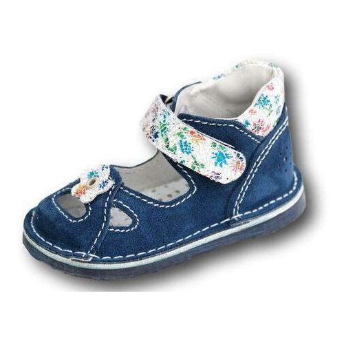 e7bd33f3 Adamki Profilaktyczne buty wzór 017nk-10 kolor jeans/biały kwiat, Adamki