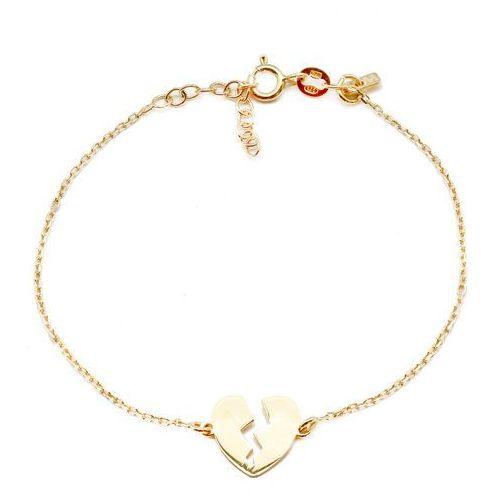 Bransoletka srebrna pozłacana SB.020.04 SAXO Biżuteria damska ze srebra, kolor szary