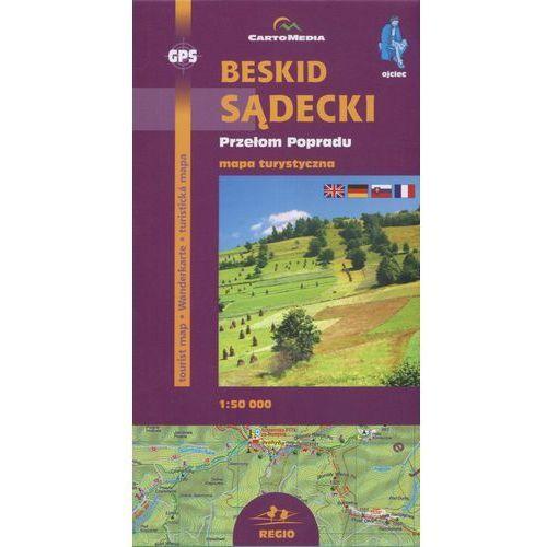 Beskid Sądecki Przełom Popradu Mapa turystyczna 1: 50 000, Cartomedia