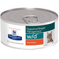feline w/d digestive weight management, kurczak - 12 x 156 g| darmowa dostawa od 89 zł i super promocje od zooplus! marki Hills prescription diet