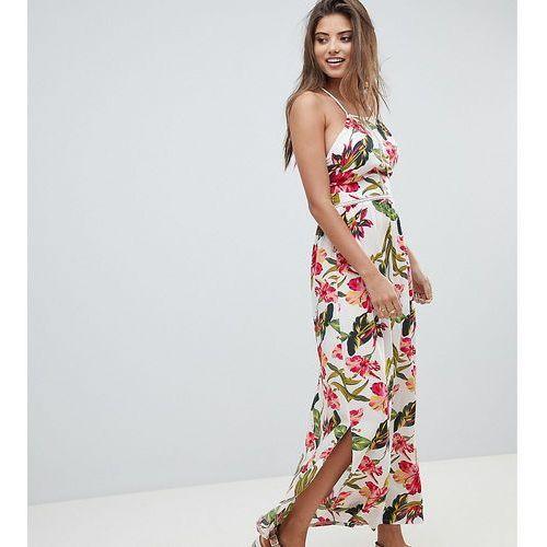 a86e9054 Square Neck Floral Maxi Dress - White, kolor biały (PrettyLittleThing)