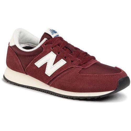 Sneakersy - u420rdw bordowy marki New balance