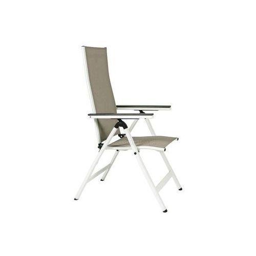 Edomator.pl Krzesło ogrodowe składane aluminiowe verona vetro - białe