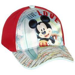 Czapka z daszkiem Myszka Mickey - Miki czerwona, kolor czerwony