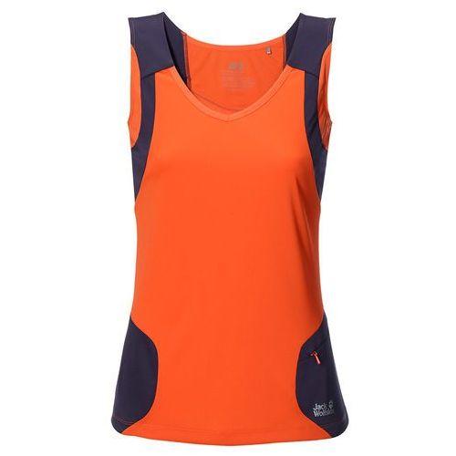 Koszulka passion trail top women - flame orange Jack wolfskin