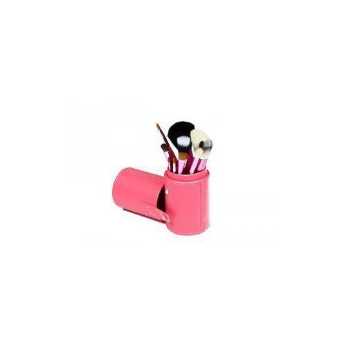 Pędzle do make up komplet 12 szt. pakowane w tubę kolor różowy marki Vanity