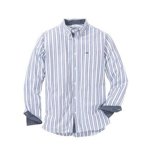 875ac631217401 Zobacz w sklepie Koszula z długim rękawem Regular Fit bonprix  biało-niebieski w paski, w 6 rozmiarach