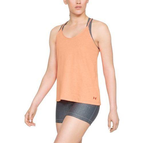 Under armour koszulka solid fashion tank pomarańczowa - pomarańczowy