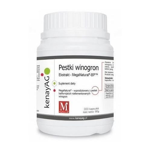 MegaNatural-BP ekstrakt z pestek winogron (300 kaps.) Polyphenolics