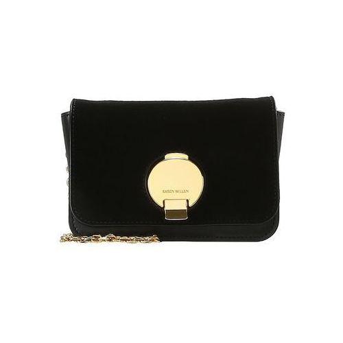 Karen Millen DISC FASTENING SMALL BAG Torba na ramię black, kolor czarny