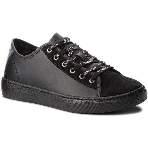Sneakersy - color mix light sneaker em0em00124 black 990, Tommy jeans, 40-46