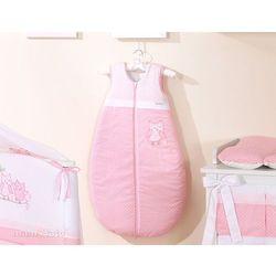 śpiworek do 18 m-ca haftowany sówki uszatki różowe marki Mamo-tato