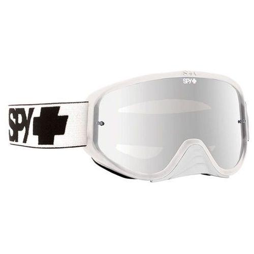 Gogle narciarskie woot race white - smoke w/ silver mirror (+clear anti fog w/ posts) Spy
