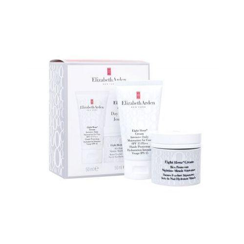Elizabeth arden eight hour cream spf15 zestaw 50 ml daily skin care 50 ml + night skin care 50 ml dla kobiet